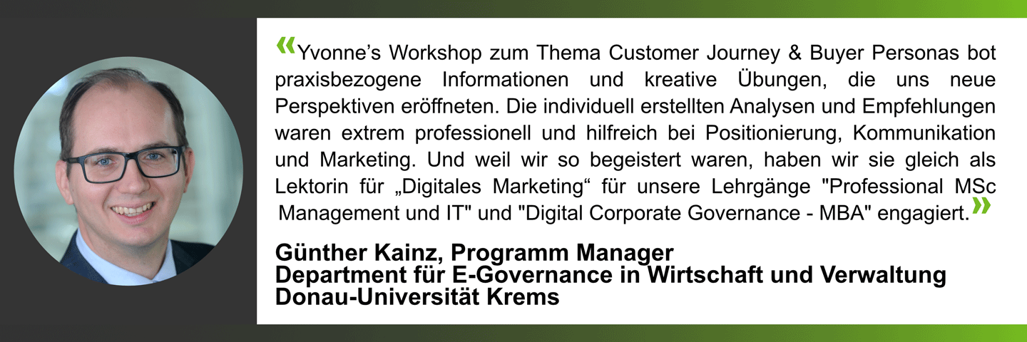 Yvonne Masopust: Referenz Workshops GuentherKainz